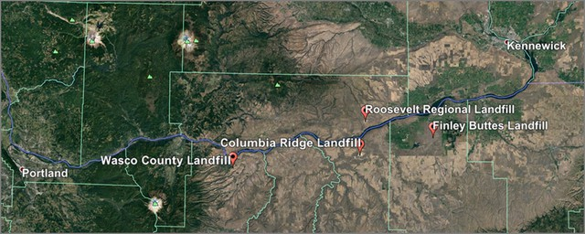 Landfills have become an important industry in the Columbia River Gorge.