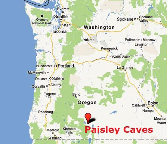 Map Of America Oregon.South Central Oregon Caves Yield Early Human Dna News Opb