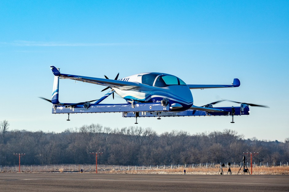 The Boeing air taxi is undergoing flight testing in Manassas, Virginia.
