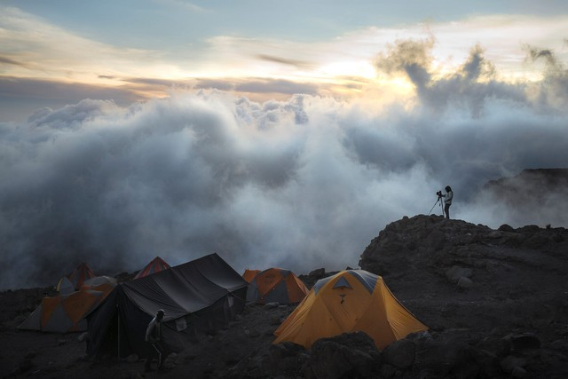 Videographers joined the Kilimanjaro climb to make the documentary Moving Mountains for Multiple Myeloma.