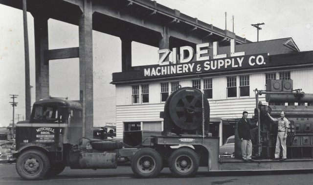 The Zidell ship-breaking business grew out of Sam Zidell's company Zidell Machinery & Supply.
