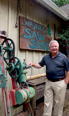 Wayne Sutton displays hundreds of saws in his Chainsaw Museum in Amboy, Washington. It's one of the largest collections of antique chainsaws in the world.