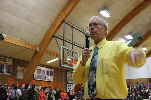 Harney County Judge Steve Grasty has canceled a community meeting scheduled for Monday, Jan. 25.