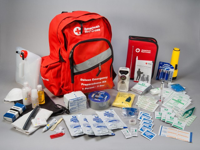 The American Red Cross recommends each household have a backpack with emergency supplies for evacuation.