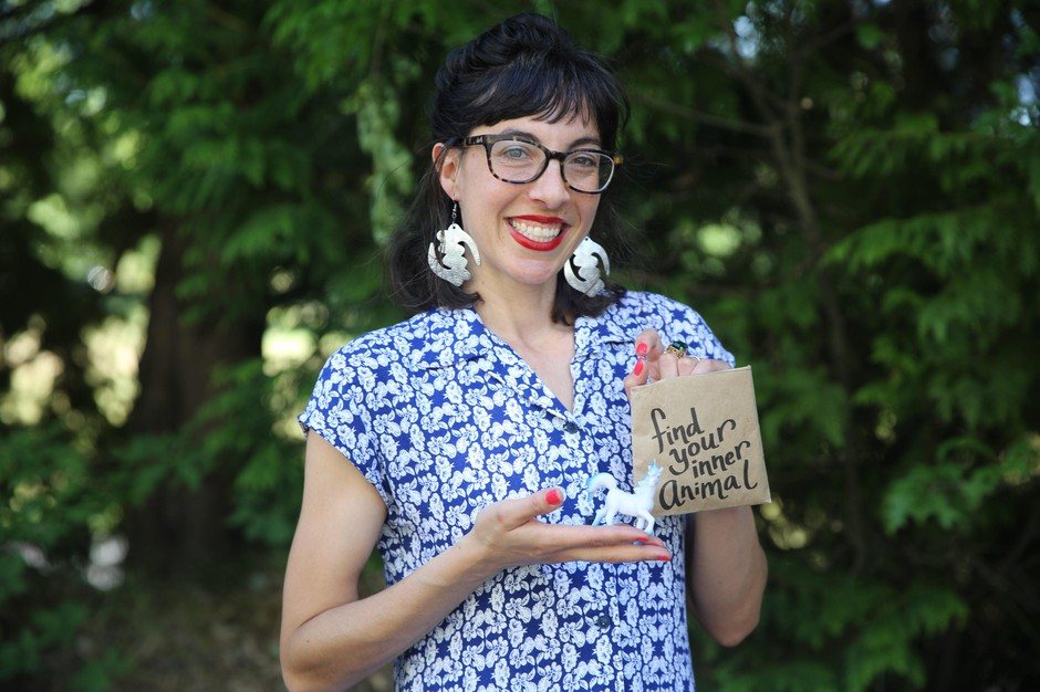 """Taylor Valdes is the creator of the vending machine business The Venderia. """"Find Your Inner Animal Mystery Bags"""" are her most popular item."""