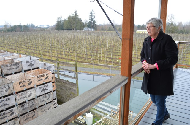 Dorie Belisle is co-owner of Bellewood Acres in Whatcom County. It is Western Washington's largest apple orchard.