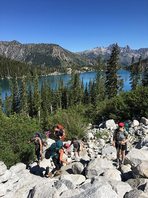The long march up Asgard Pass in The Enchantments.