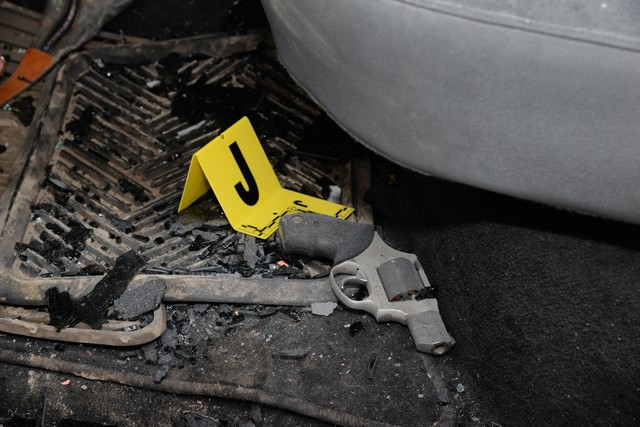 "The inside of militant leader Robert ""LaVoy"" Finicum's vehicle. The Central Oregon Major Incident Team released photos of evidence from Finicum's Jan. 26 killing."