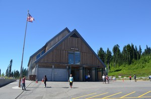 The Jackson Visitor Center, at Paradise on the slopes of Mount Rainier, could soon have hidden cell antennae inside the building.