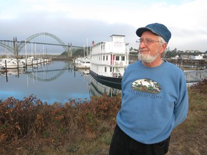 Michael Wilkinson, the owner of the Newport Belle sternwheeler, says in a tsunami, the vessel could well be picked up and washed onto the Hatfield Marine Center.
