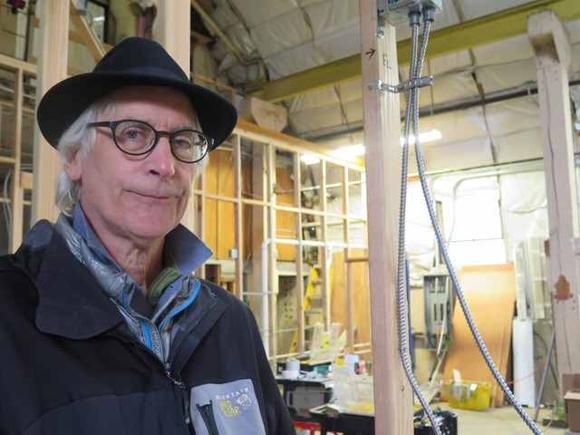 Ken Unkeles at NW Marine Ironworks at an early stage of renovation.