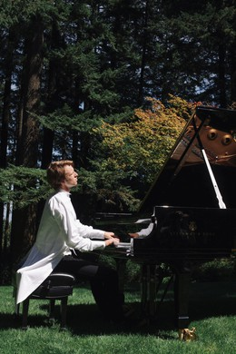 "Hunter Noack will take music by Debussy, Cage and other other composers into the woods and parks of Oregon with ""In A Landscape."""
