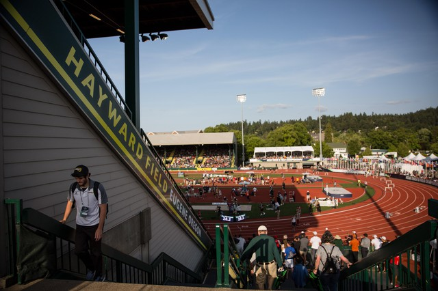 """The University of Oregon has said Hayward's East Grandstand has """"critical structural challenges."""" The structure is almost 100 years old."""