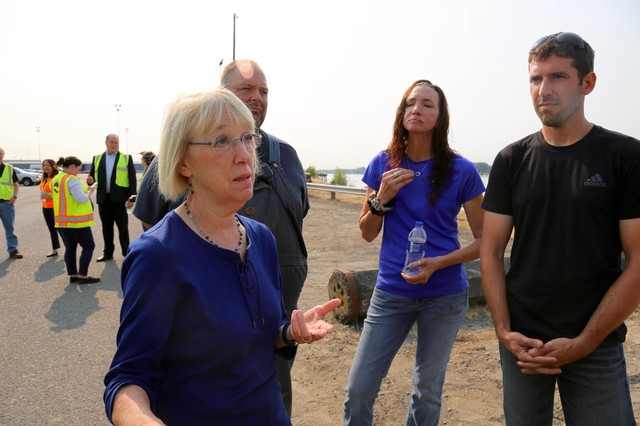 U.S. Senator Patty Murray visited the Port of Vancouver to learn how President Trump's trade war is affecting industry in southwest Washington.