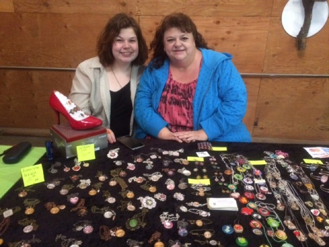 Jackie Williams and daughter Lexie run a jewelry-making business called Orchard Monkeys.