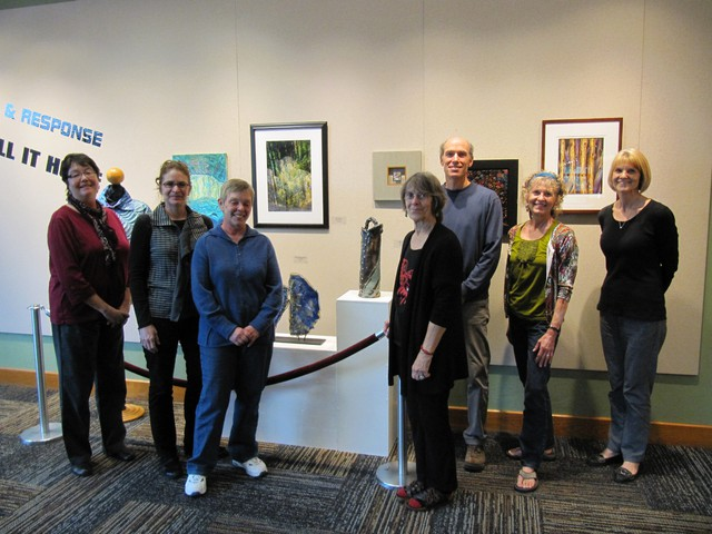 Call and Response artists Kerry McFall, Karen Tornow, Sally Ishikawa, Mariana Mace, Jeff Gunn, Alice Ann Eberman and Anita Cook. Not pictured, but also in the group: James Schupp.