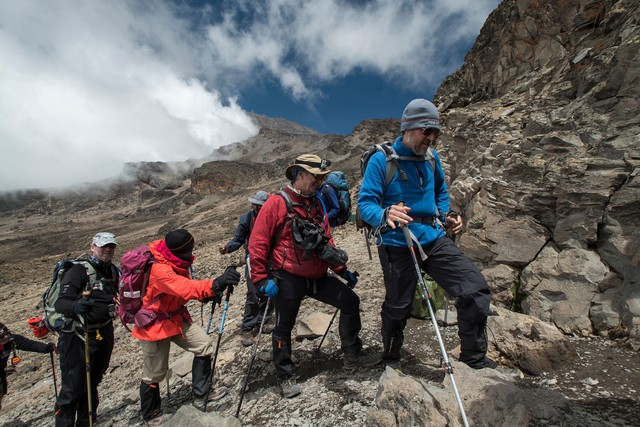 The Moving Mountains team for the Kilimanjaro excursion included four patients, 11 team members and an 83-person support team.