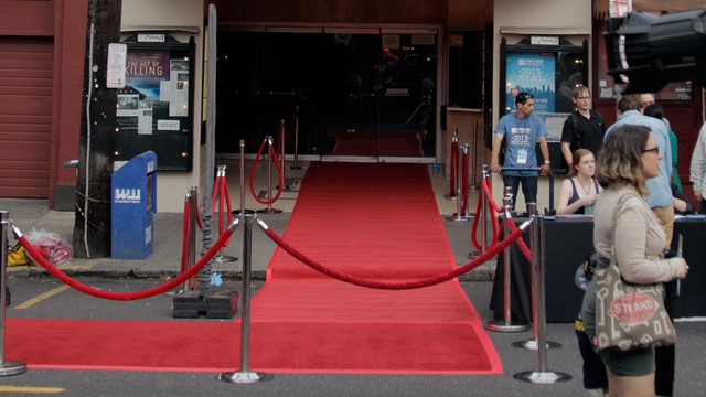 The red carpet was rolled out for opening night.