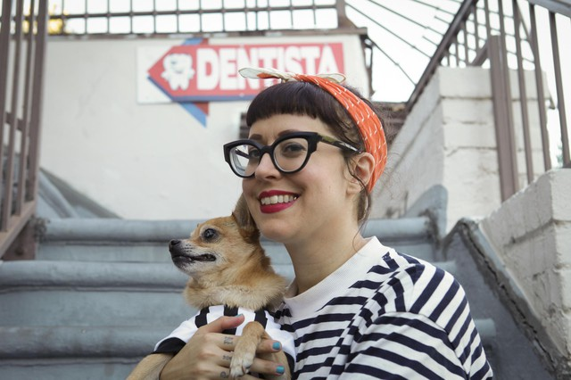 Writer, illustrator, podcaster, and educator Nicole Georges splits her time between Portland and Los Angeles.