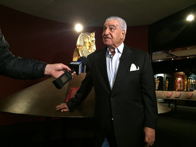 Zahi Hawass visited OMSI to promote The Discovery of King Tut exhibit.