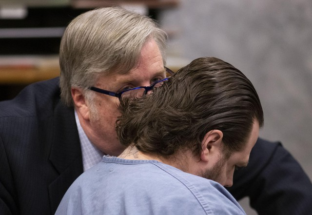 Defense attorneys in Jeremy Christian's trial present their case on Monday, Feb. 10, 2020.