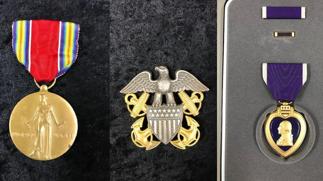 The military medals in state custody include ones from World War II, the Vietnam War, and a Purple Heart.
