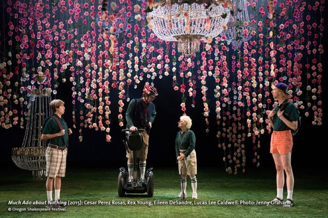 "Furthering the argument that all Shakespeare productions are adaptations of some kind, the Oregon Shakespeare Festival's current production of ""Much Ado About Nothing"" includes contemporary costumes, hip hop, and a Segway."