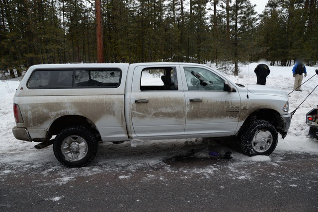 """The vehicle driven by militant leader Robert """"LaVoy"""" Finicum. The Central Oregon Major Incident Team released photos of evidence from Finicum's Jan. 26 killing."""