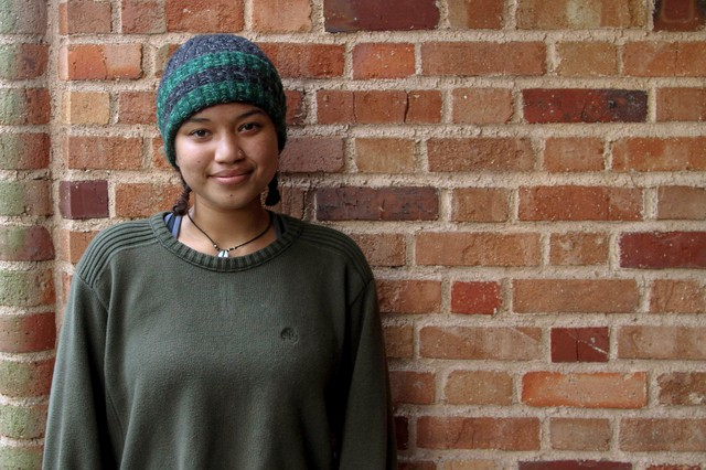 Lewis andClark student Sonja Noonan-Ngwane has been part of an on-campussit-in since before Thanksgiving.