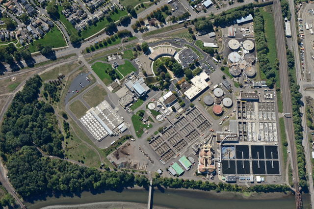 The Columbia Boulevard Wastewater Treatment Plant serves residential and commercial customers in Portland.