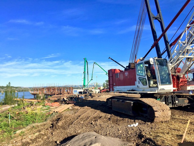 The first concrete pour began Thursday morning at Block 12 of Gramor Development's Vancouver waterfront project.