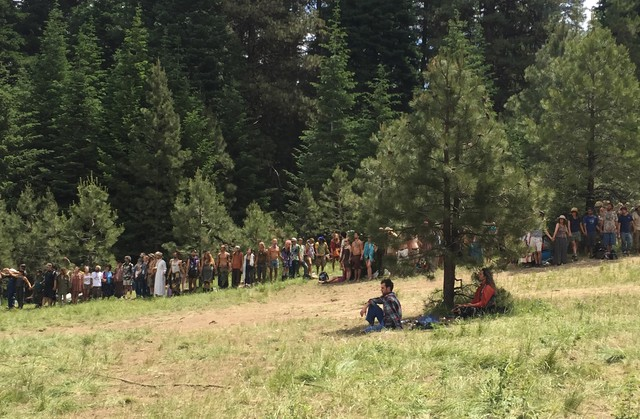 An estimated 12,000 hippies and free spirits flocked to the Malheur National Forest near John Day, Oregon, for the annual gathering of the Rainbow Family of Living Light.