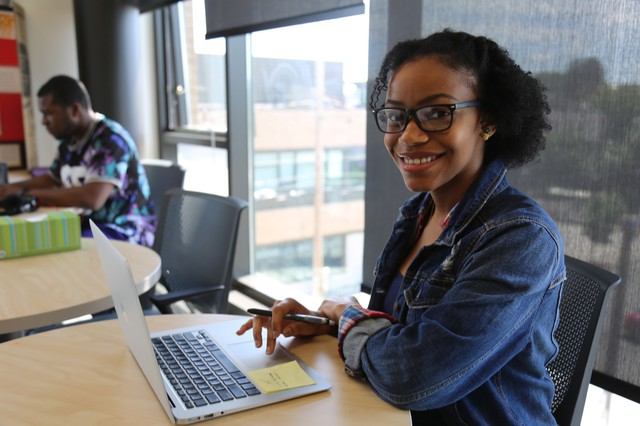 Nineteen-year-old Alexis Bright is a second-year Portland Community College student.