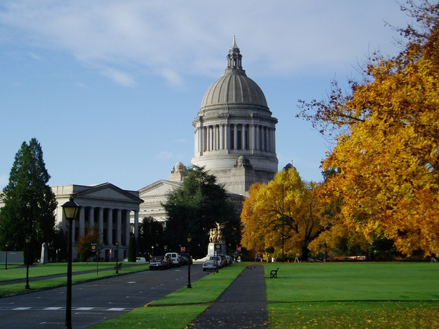 The Washington statehouse building in Olympia, Washington.