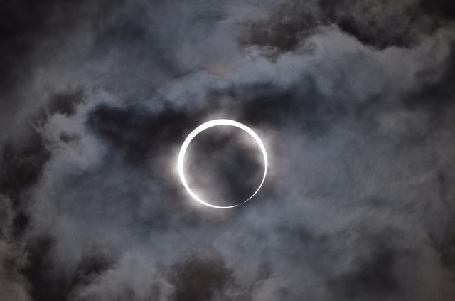A solar eclipse in Hyogo, Japan, May 21, 2012.