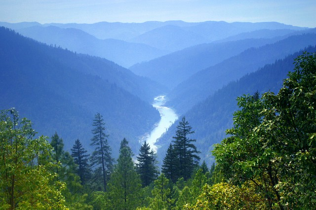 The Rogue River in southwestern Oregon.