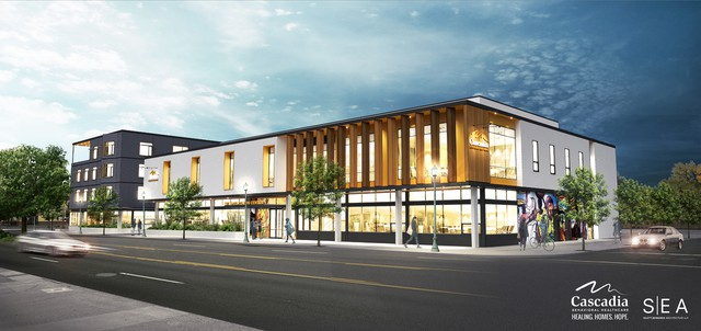 Artists rendering of the proposed Garlington Center on NE Martin Luther King Junior Blvd.