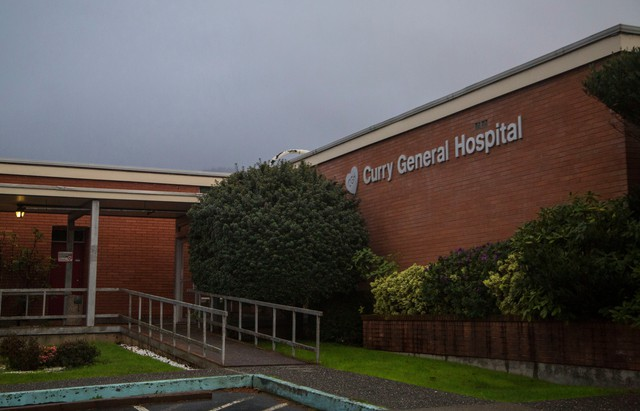 Curry General Hospital in Gold Beach. The hospital must be replaced by 2016 to meet fire codes, but the community only has the land and money to put its new hospital at the same site of the old one. However, scientists now know that site will take devastating tsunami damage in the event of Oregon's next major earthquake.