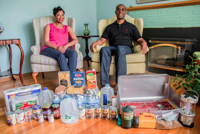 """Ed and Sara Johnson of Southeast Portland say their biggest reason for participating in the """"Living Off Your Quake Kit"""" project is to learn more about how they need to be prepared for natural disaster and to spread that information to others."""