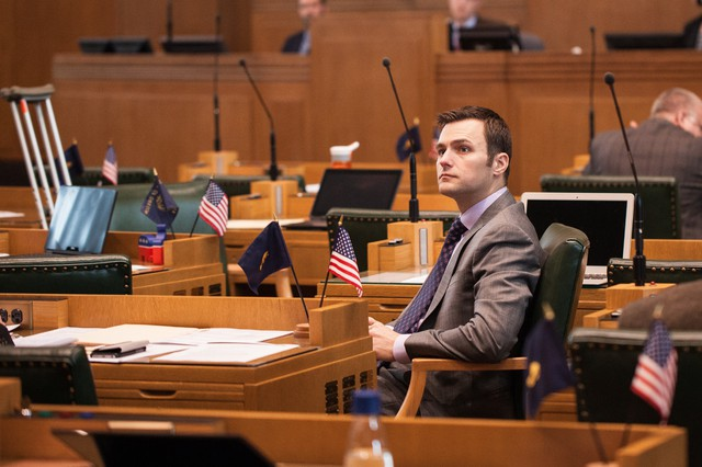 Oregon Rep. Dan Rayfield, D-Corvallis, sits in the House chamber.