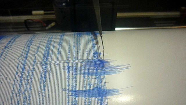 Readings from a seismograph.