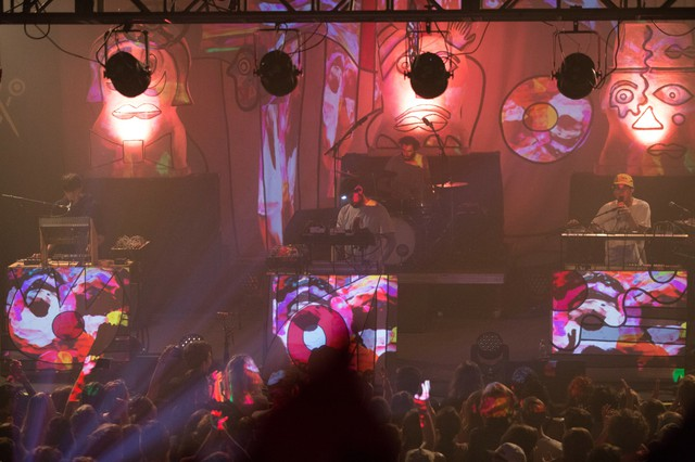 Animal Collective performs on June 30 at the Roseland Theater in Portland, Oregon.
