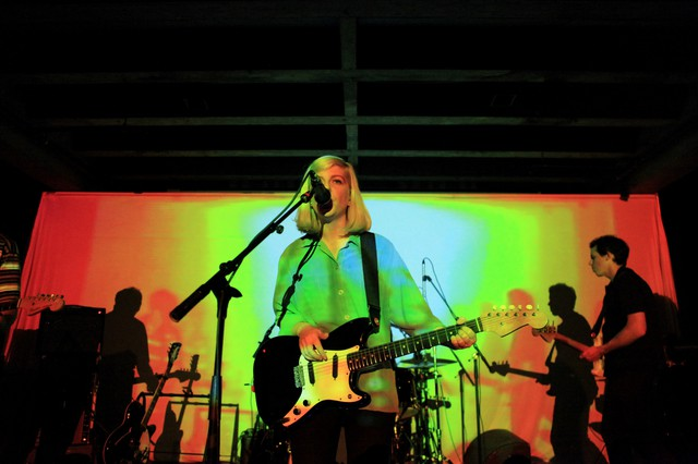 Molly Rankin of the band Alvvays performing at Doug Fir Lounge in Portland, OR on Oct. 26, 2017.