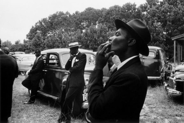 Robert Frank, Funeral - St. Helena, South Carolina, from the book The Americans © Robert Frank
