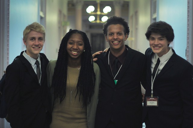 Grant High School students Finn Hawley-Blue, Khiarica Rasheed, Dylan Palmer and Mackie Mallison presented their short film at the 2016 White House Student Film Festival.