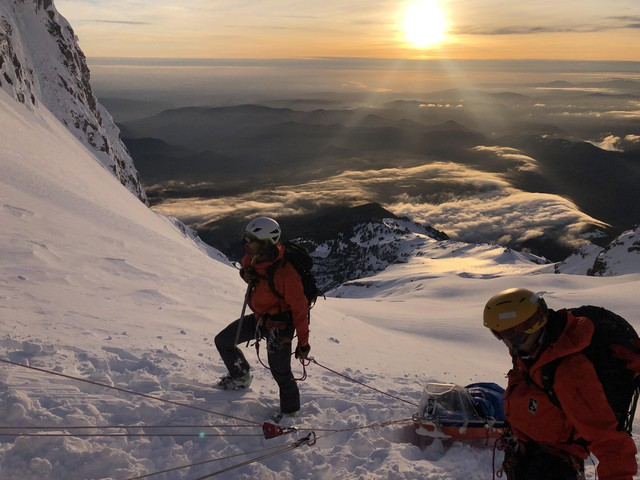 Search and rescue teams worked to save two stranded climbers on MountHood over Memorial weekend.