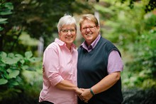 Deanna Geiger and Janine Nelson, lead plaintiffs in Geiger v. Kitzhaber, the federal lawsuit to establish a right to marriage equality for gay and lesbian couples in Oregon