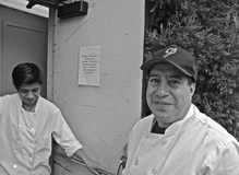 Maestro and a coworker at Veritable Quandry