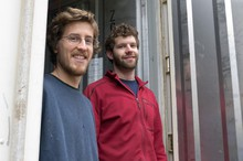 Will Fortini (left) of Encinitas, Calif., and Ryan Bubriski of Shaftsbury, Vt., were freshman-year roommates at Lewis & Clark College in 2009. They went into the mushroom business with classmate Zac Tobias of San Diego after all three graduated in 2012.