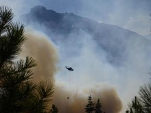The Pole Creek fire has left Sisters with smoky skies.